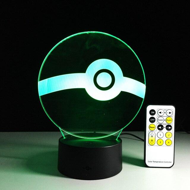 2017 presente de ano Novo USB Novidade Criativa Presentes de Feriado para Picar Bola Mesa de luz Luz Da Noite 3D como Decoração do Quarto