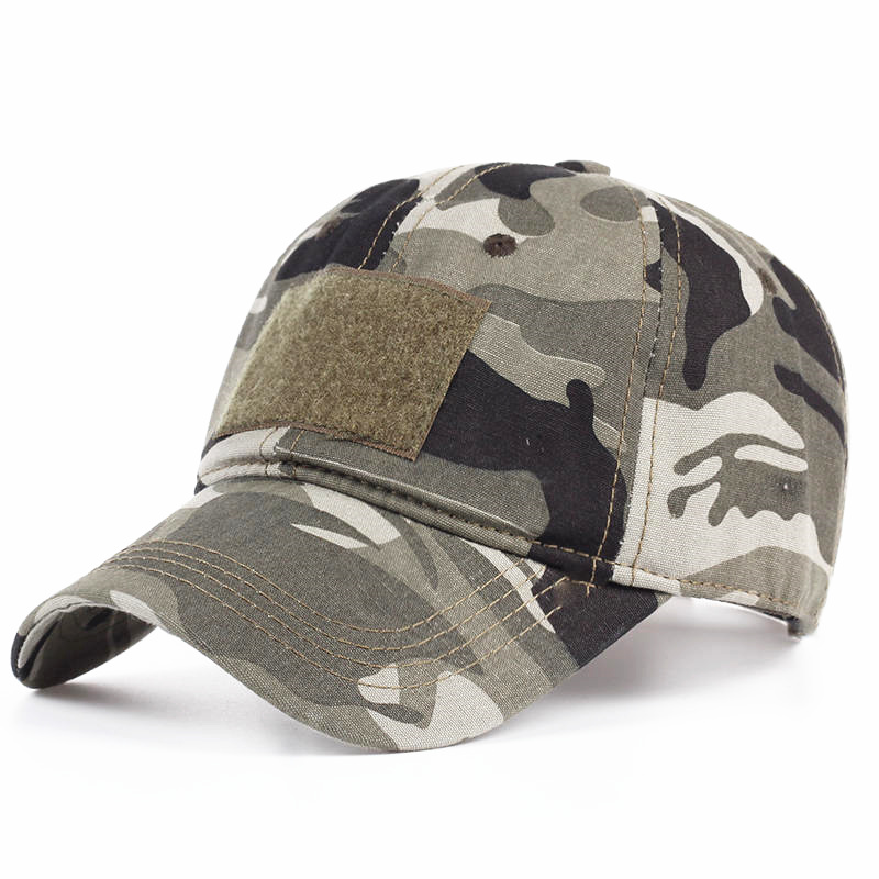 Cotton Camouflage Baseball Cap For Men Women Snapback Caps Tactical Hat Camo Army Cap Summer Sniper  Adjustable Visor fashion rivets cotton polyester fiber men s flat top hat cap army green
