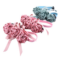 Cute Pet Wedding Flower Collars Cat Dog Necklace Pendant Jewelry Luxury Princess Dog Collars Puppy Necklace