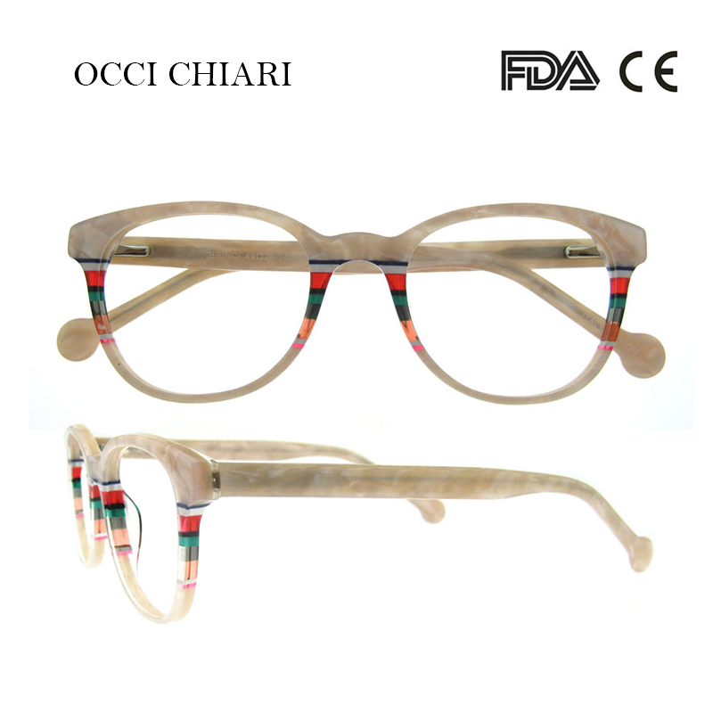Image 3 - Recommend Good Quality Italy Design Acetate Navy Stripes Spring Hinge Eyeglasses Women Eyewear Clear Glasses Frame W CORRO-in Women's Eyewear Frames from Apparel Accessories