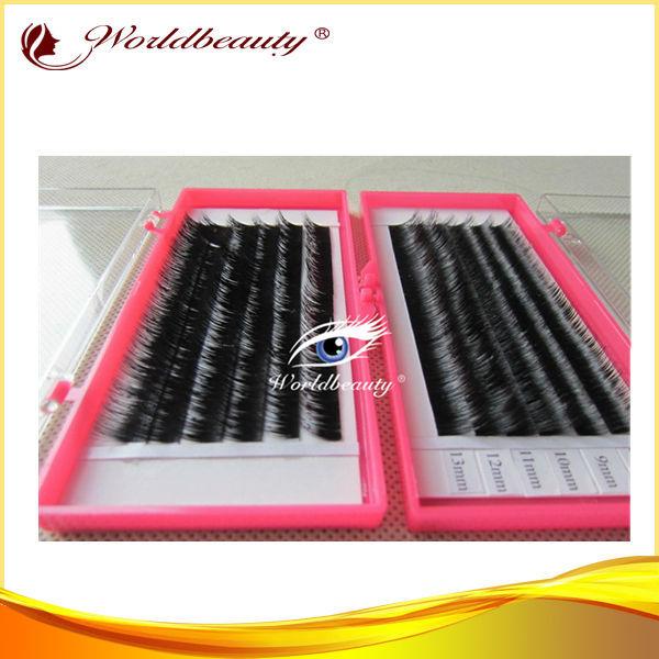 Envío libre de calidad Superior piel de visón auténtico siberiano pestañas de extensión 10 bandejas/lot