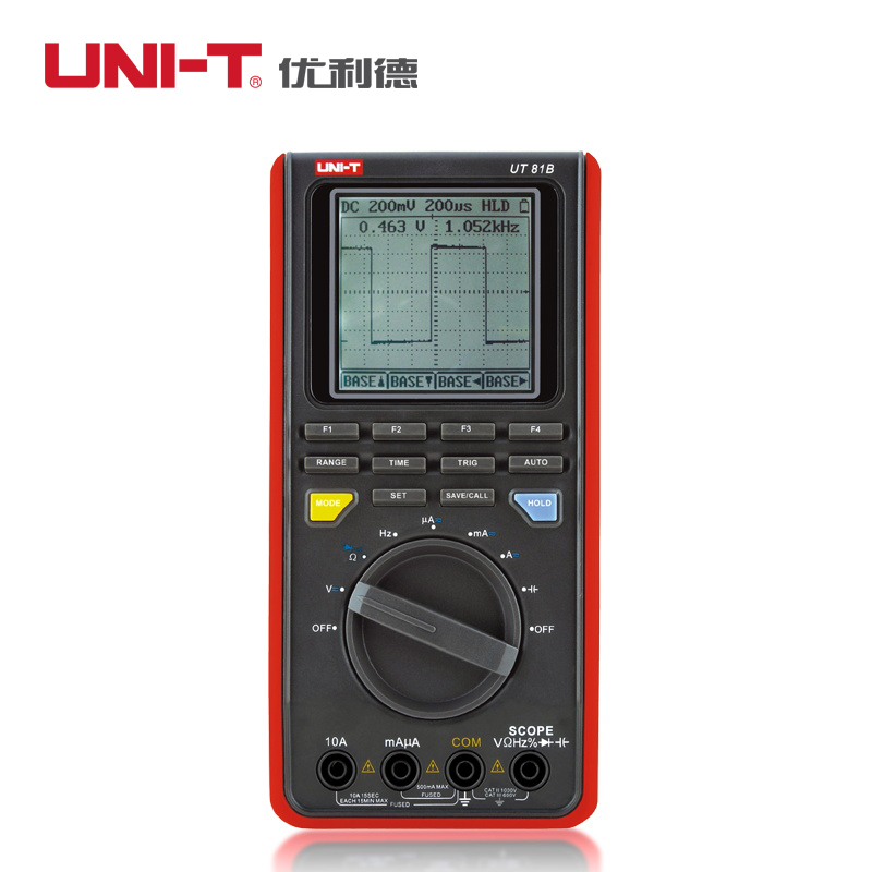 UNI-T UT81C handheld digital oscilloscope Scopemeter multimeter  Ammeter voltmeter with high sampling rate 80MS/s 8M bandwidth цена и фото