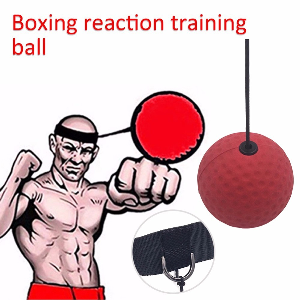 Gym Sports Boxing Equipment Fight Ball Boxeo With Head Band For Speed Training Boxing Punch Exercise Fitness Quick Response Ball