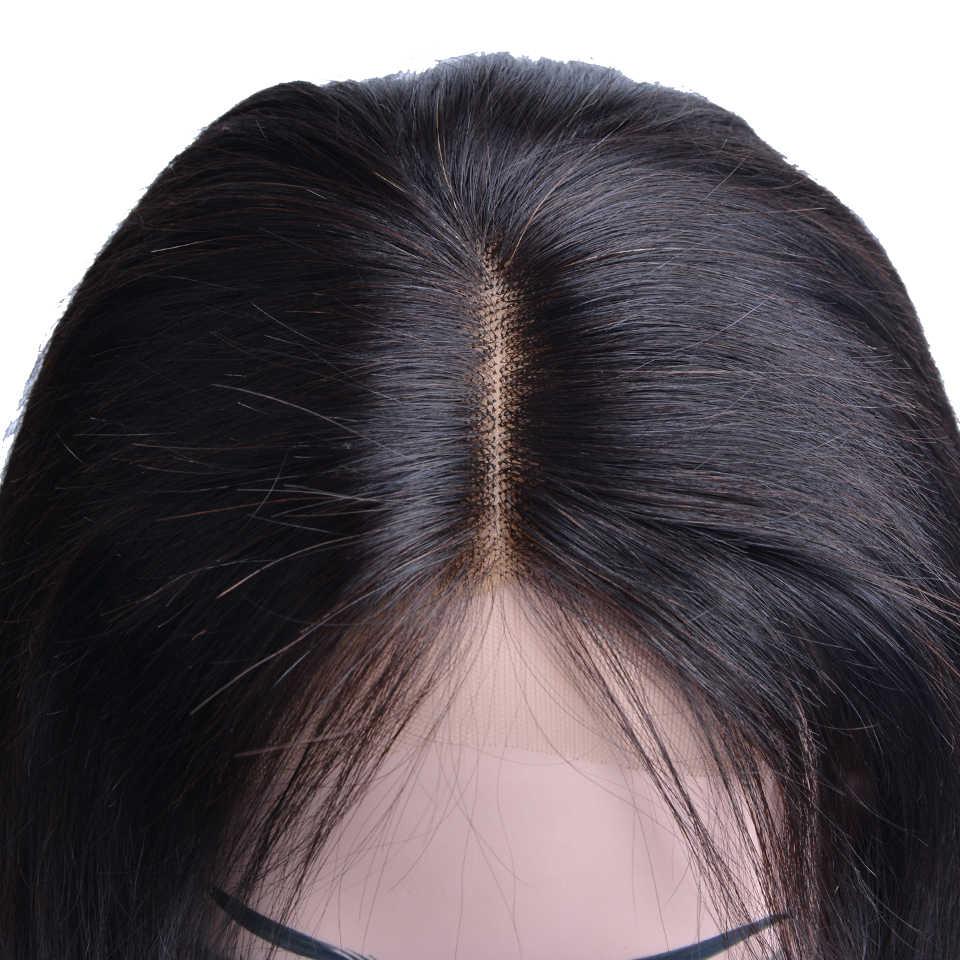 Парик с закрытием 4x4 короткий Боб бразильский кружевной передний человеческие волосы парики для черных женщин Remy Детские волосы прямые Полный конец кружева спереди al парик
