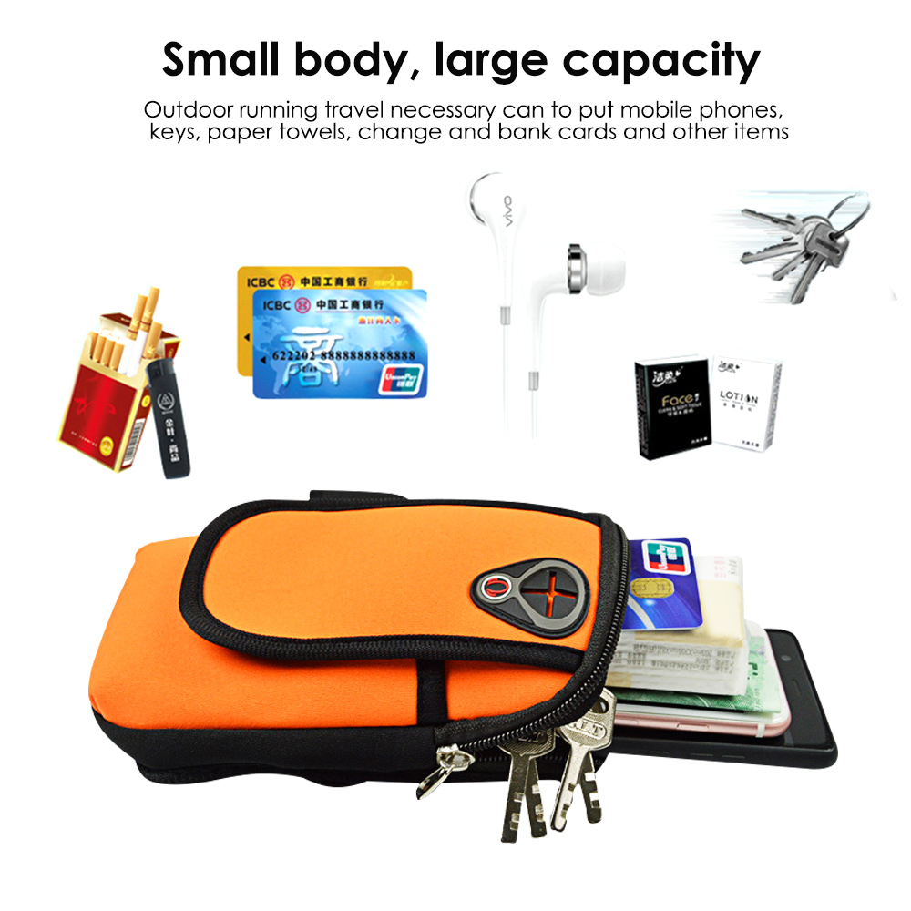 Mobile Phone Accessories Armbands Sport Armband Running Flip Bag Case For Iphone Samsung Universal 5.5inch Smartphone Earphone Holes Keys Arm Bags Pouch