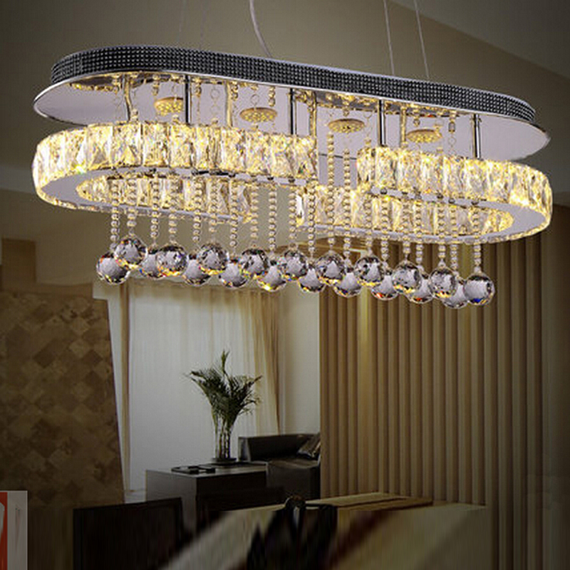 Neue design led pendelleuchte kristall pendelleuchten für ...