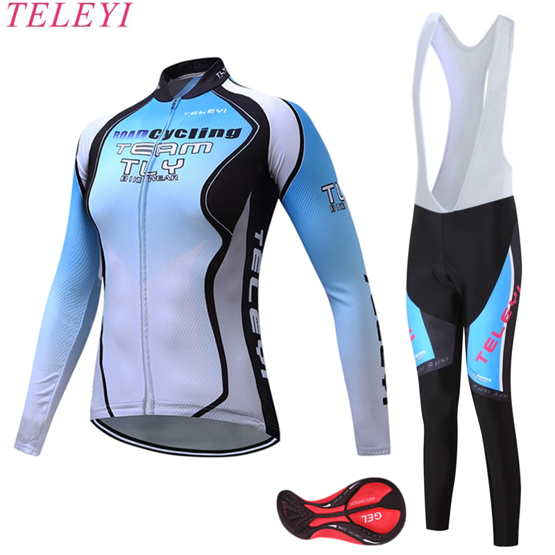 Spring Autumn Breathable Women Cycling Clothing/MTB Bicycle Wear Ropa Ciclismo/Race cycling Clothes/Bike Cycling Jersey Long Set women s cycling shorts cycling mountain bike cycling equipment female spring autumn breathable wicking silicone skirt