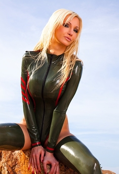 Latex Uniform Leotard Sexy Latex Zentai Suit Not Including Stockings