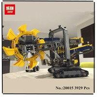 В наличии Новые Лепин 20015 3929 шт. техника Роторный экскаватор Модель Строительство Соберите комплект блоки кирпич Совместимость игрушка в по
