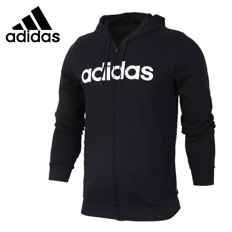 Original New Arrival Adidas NEO Label M CE ADI ZIP HD Men's jacket Hooded Sportswear plaid insert side zip hooded tee