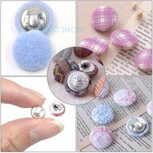 Image 5 - Lote de 100 unidades de botones de tela redonda recubierta de aluminio, con 1 Herramienta, forma de pan de Metal para setas, hechos a mano, Envío Gratis