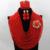 De lujo Lleno de Perlas Joyería de La Boda Cristal Rojo Sistemas de La Joyería Africana de Nigeria WA657 Party Collar Fijó El Envío Libre