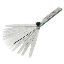 Silver 17 sheets 0.02-1.00mm Distance gauge Blattle gauge Feeler gauge Feeler gauge