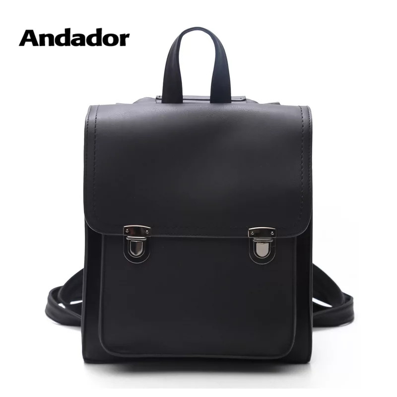 Vintage Backpack Teenager Shoulder-Bags Large-Capacity School Women New-Fashion PU High-Quality