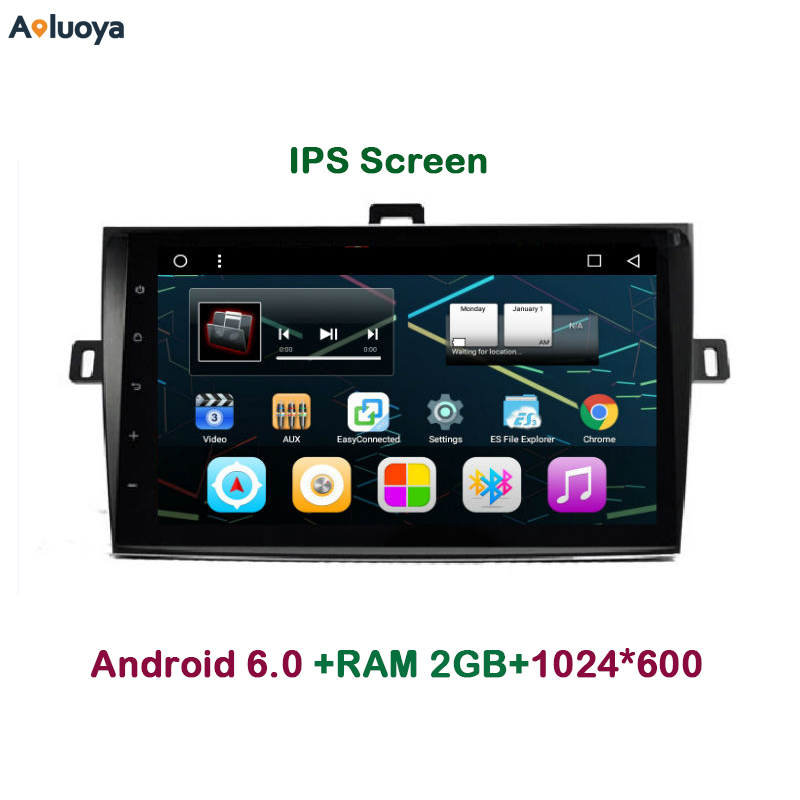 Aoluoya 9 inch IPS 2GB RAM Android 6.0 CAR Radio DVD GPS player For Toyota Corolla 2007 2008 2009 2010-2013 Audio Navigation DAB