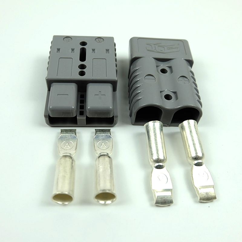 2pcs Quick Connect Plug <font><b>175A</b></font> <font><b>600V</b></font> <font><b>Battery</b></font> Quick <font><b>Connector</b></font> Plug Winch <font><b>Connector</b></font> Plug Gray/Blue/Red For Max 1AWG wire image