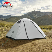 Naturehike 2-4 Person Double Layers Outdoor Embossing Camping Tent Aluminum Rod Waterproof Windproof Hiking