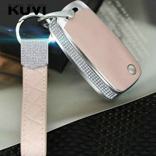 Diamond Leather Car key Cover Case Car Key Bag Fit for VW Volkswagen Skoda Golf7 Polo Tiguan Passat Jetta MK5 MK6 T5 Beetle Etc цена