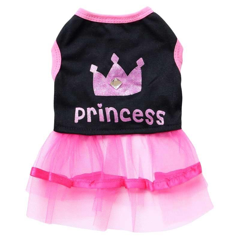 promo code a347a b51ee US $4.65 5% OFF|Krone Prinzessin Sommer Hund Kleid Hunde Prinzessin Kleider  Pet Rosa Rock Kleidung Für Hunde Katzen Malteser Yorkshire Chiwawa ...