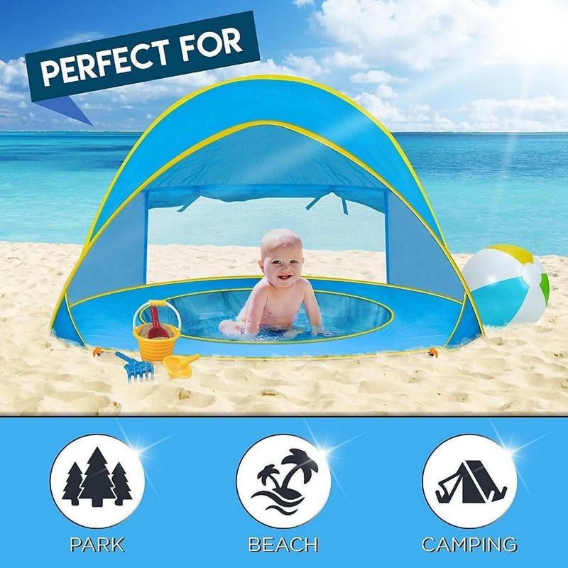 Drop Shipping Baby Beach Tent Pop Up Playing Fun Portable
