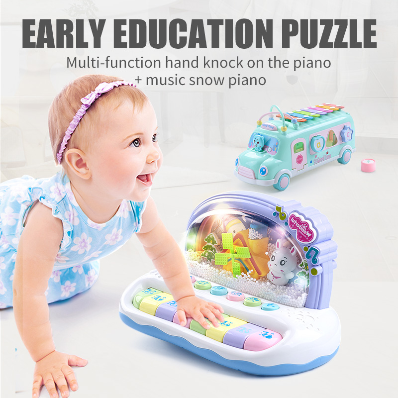 Music Children's Piano Musical Instrument Color Drum Toys For Boys Xylophone Kids Newborn Infant Synthesizer