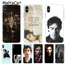 MaiYaCa The Vampire Diaries Ian Somerhalder Adorable Back Phone cover for Apple iPhone 8 7 6 6S Plus X XS max 5 5S SE XR Cover
