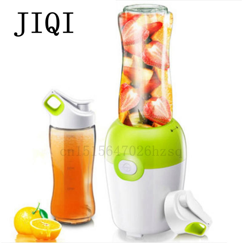 JIQI portable household Juicer Multifunctional for mixing stirring juicing Stainless Steel blade Fruit Squeezer Delicious Juice jiqi household portable 2 cup juicers mini electric automatic juicing machine 300w power for juicing mixing stirring