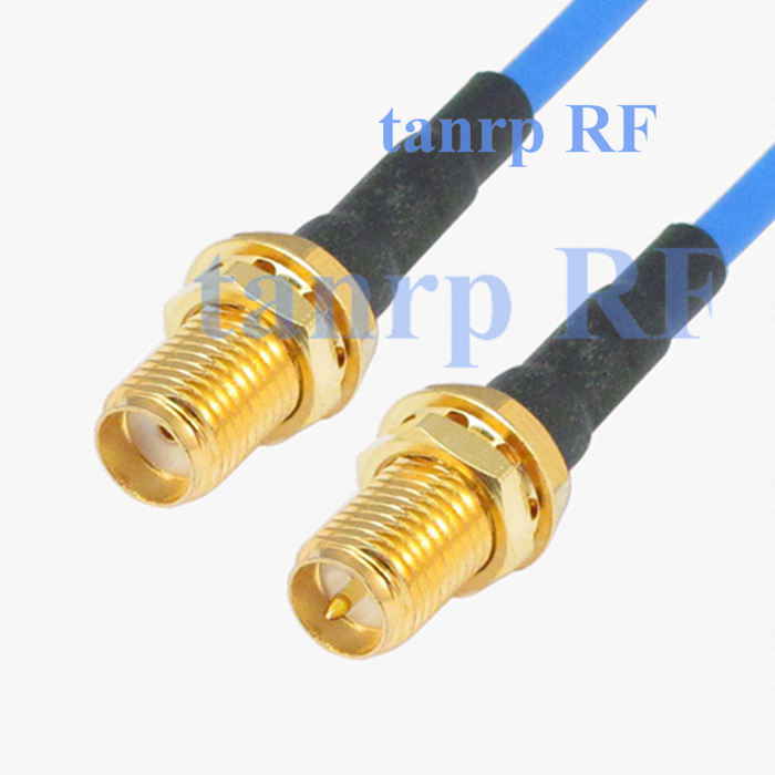 15CM coaxial Sexi Flexible blue jumper extension cable RG405 6in SMA female jack to RP SMA female RF 3G 4G router WIFI