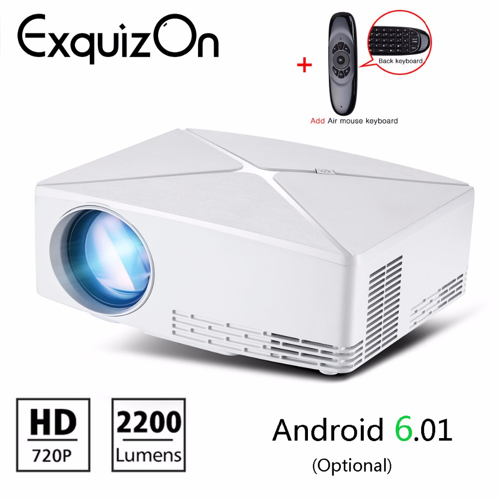 Exquion GP70 Upgrade C80 Mini LED Projector 1280x720 Portable HD HDMI Video 3D LCD projector(C80UP Android WiFi Beamer Optional) Проектор