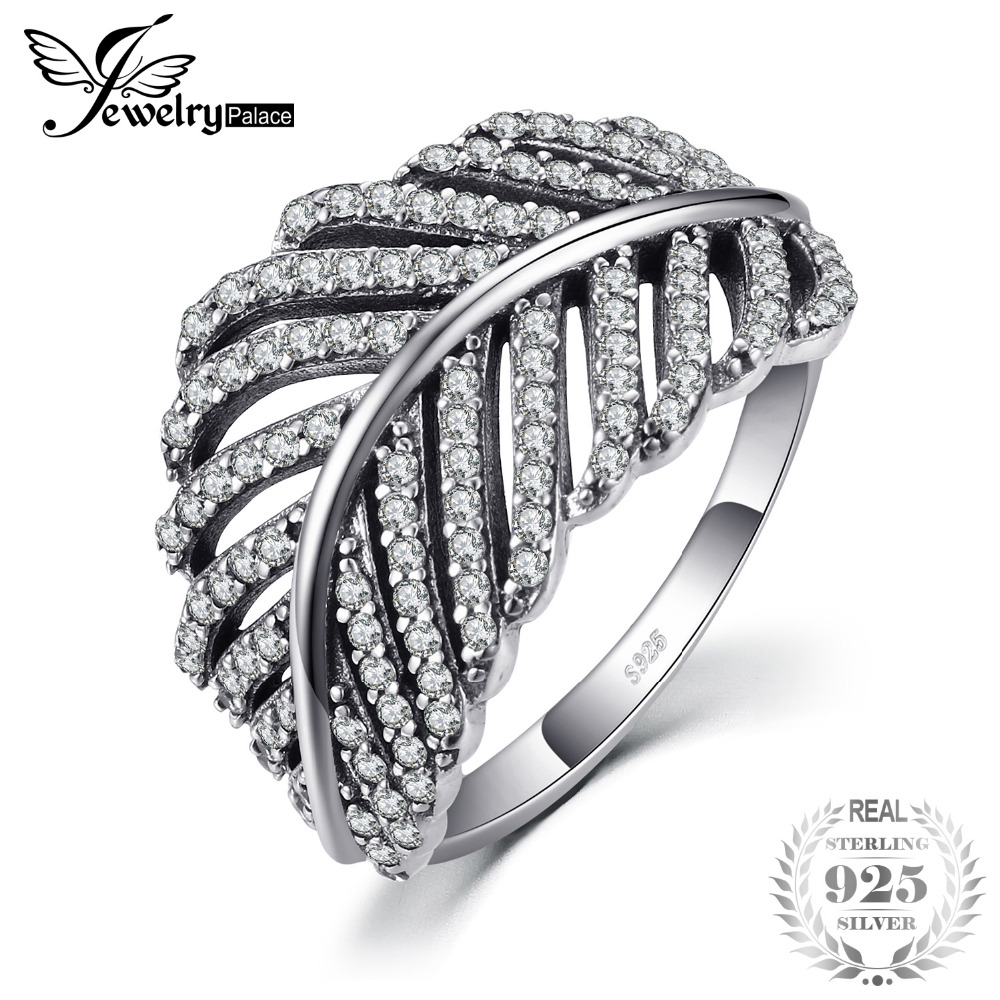 Jewelrypalace 925 Sterling Silver Openwork Leaves Cocktail Ring For Women As Best Gifts Jewerly New Hot Sale trendy environmental alloy openwork width ring for women