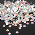 1440 Unids/pack SS3-SS12 Crystal Clear AB No Hotfix Flatback Rhinestones Del Clavo Para Uñas 3D Decoración Del Arte Del Clavo Gemas