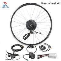Электрический велосипед conversion kit 24/36/48 V 250/350/500 W DC Шестерни бесщеточный мотор Hub 20 28 Заднее колесо велосипеда мотор Набор для электровелосипе