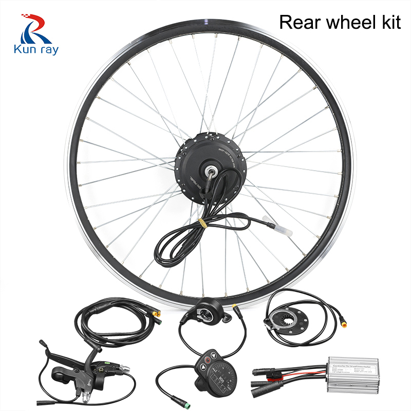Electric bike conversion kit 24/36/48V 250/350/500W DC Gear Brushless Hub Motor 16-28 bicycle rear wheel motor kit for ebike e bike 24v 800w motor with disc brakes hub electric bicycle ebike conversion kit front or rear wheel new details about