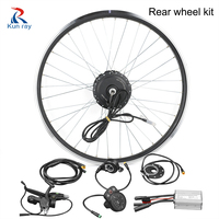 Electric bike conversion kit 24/36/48V 250/350/500W DC Gear Brushless Hub Motor 20 28 bicycle rear wheel motor kit ebike