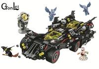 10740 Batman Movies Series The Ultimate Batmobile Building Blocks Car Model Educational Brick Toys Compatible With 70917
