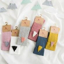 Гольфы для маленьких девочек Полосатые Колготки теплые гольфы для девочек 1-8 лет; сезон зима