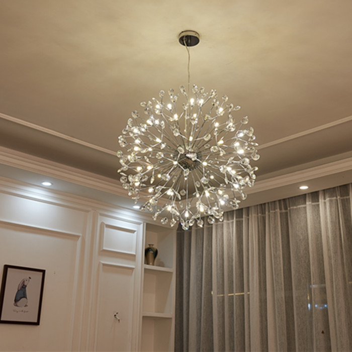 Modern branch k9 crystal ball chrome G4 LED bulb pendant light fixture norbic home deco dinning room iron flower pendant lamp g4 led bulb
