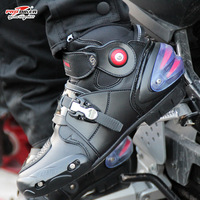 Pro biker Motobotinki couro motorcycle botas homens corrida bota moto tornozelo sapatas da bicicleta do motor lanchas de motocross preto