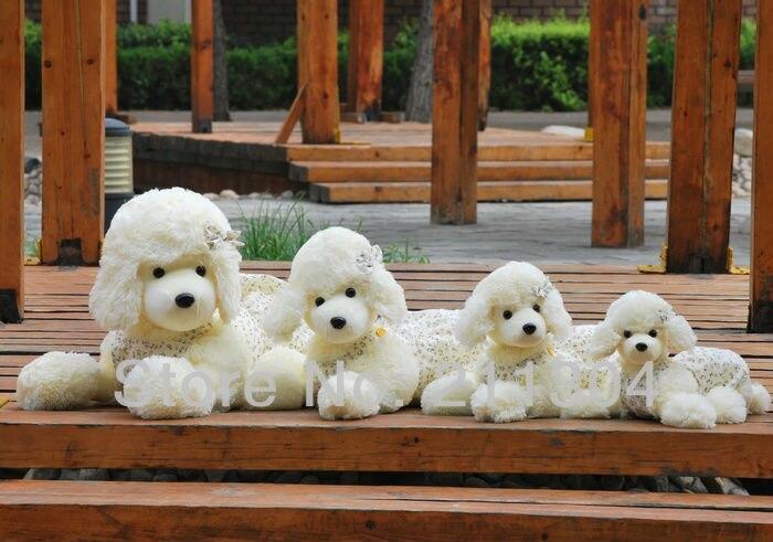 Livraison gratuite 1 pc au détail 65 cm peluche caniche chien animal en peluche mignon animaux de compagnie amis enfants cadeaux de noël taille XL