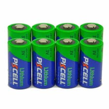 8 X PKCELL 2/3A CR123A 3V Lithium Battery CR123 CR 123 CR17335 123A CR17345(CR17335) 16340 Primary Batteries for Carmeras