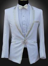 Blazer men formal dress latest coat pant designs suit men costume homme terno edge marriage wedding suits for men's slim white