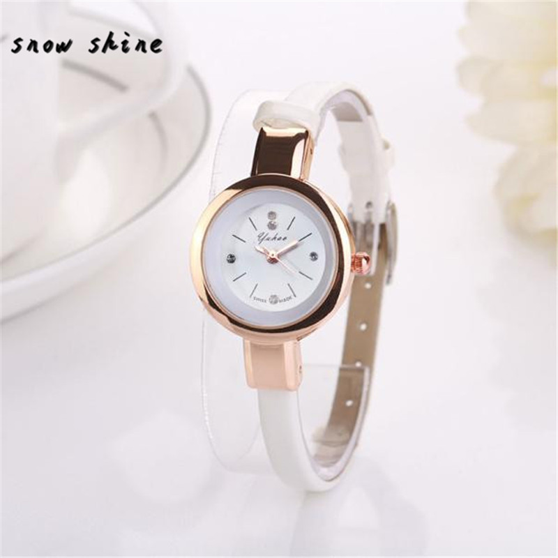 snowshine 30 New Womens Retro Design Leather Band Analog Alloy Quartz Wrist font b Watch b