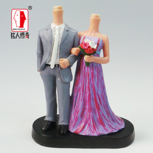 Wedding Cake Topper Personalized Custom real doll custom clay dolls fixed resin body SR028 creative gifts
