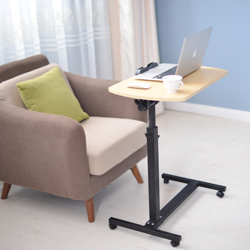 Modern minimalist home free to move up and down flip rotating bedside computer table lazy computer desk bedside computer desk