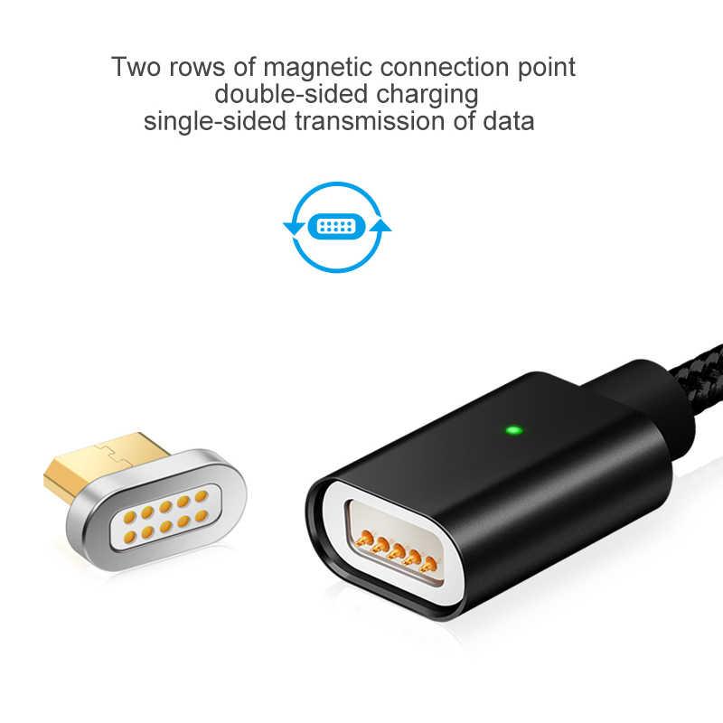 Cable USB magnético Elough E04 para Microusb teléfono móvil Cable de carga rápida cargador magnético sincronización de datos Cable Micro USB