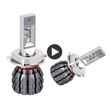 Super LED H4 Turbo HILO Headlight Bulb 12V 60W 6000LM 6000K Auto Head Lights 9003 Headlamp Kit For Car accessories
