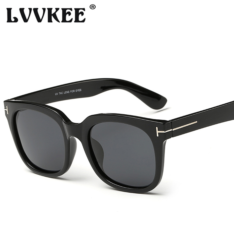 LVVKEE 2018 Haute Qualité Mode lunettes de Soleil Polarisées Hommes Marque Designer TF lunettes de Soleil pour Femmes UV400 Oculos De Sol Feminino