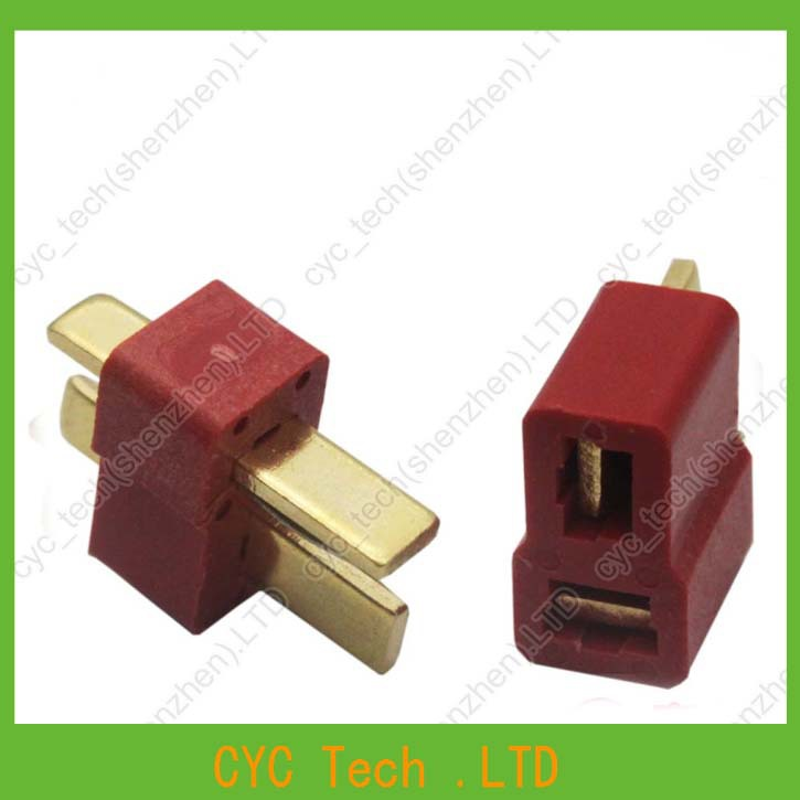 Image 2 - 50pairs Good Quality Large Current Plug Connector Male+Female RC ESC Battery Helicopter T plug for Airplane Car Boat-in Connectors from Lights & Lighting