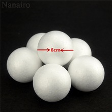 Hot 20PCS/Lot 60MM Modelling Polystyrene Styrofoam Foam Ball White Cra