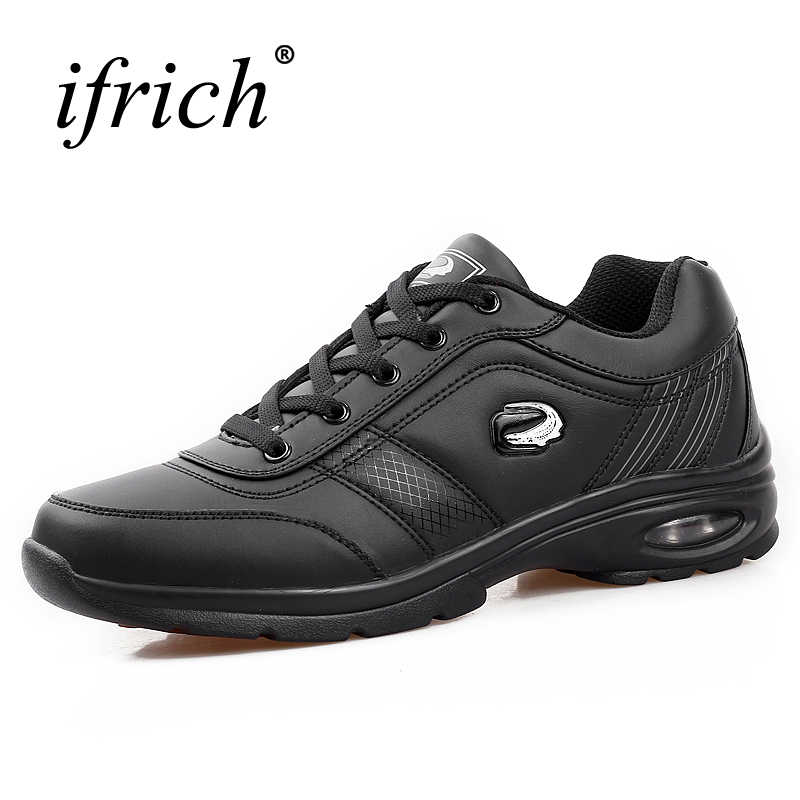 Men's Running Shoes Large Size 11 Sneakers 2019 Air Cushion Jogging Shoes Leather Sport Sneaker Men Spring/Autumn Walking Shoes
